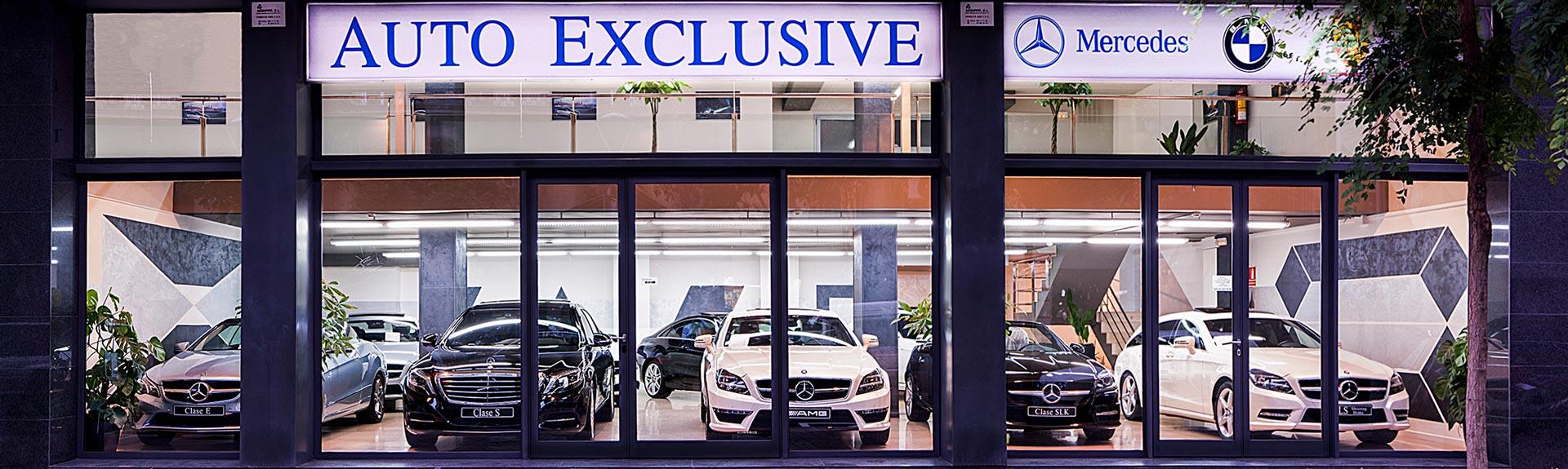 Fachada - Concesionario Auto Exclusive BCN - Tu concesionario de Vehículos de Ocasión, Demostración y Gerencia Mercedes - Benz en Barcelona. Grandes Ofertas den Vehículos.