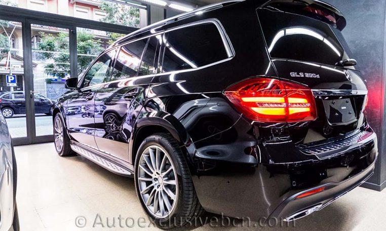Mercedes-Benz Clase GLS 350d 4Matic AMG -2016- Negro Obsidiana - Piel Negra - Full Equip - Stock Auto Exclusive BCN - Lateral Izquierdo Trasero- Auto Exclusive BCN tu concesionario de vehículo Ocasión - Demo- y Gerencia Mercedes-Benz en Barcelona