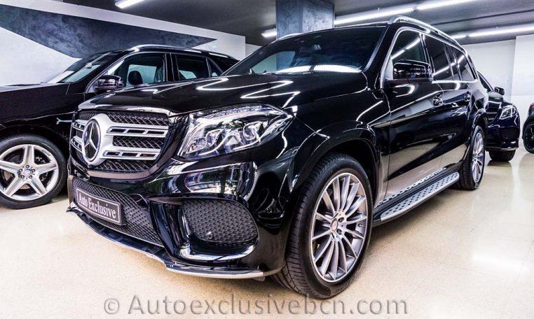 Mercedes-Benz Clase GLS 350d 4Matic AMG -2016- Negro Obsidiana - Piel Negra - Full Equip - Stock Auto Exclusive BCN - Delanterra Derecha- Auto Exclusive BCN tu concesionario de vehículo Ocasión - Demo- y Gerencia Mercedes-Benz en Barcelona
