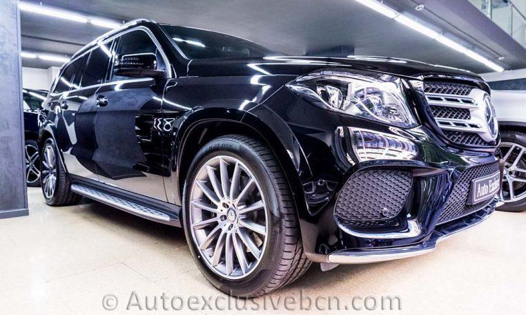 Mercedes-Benz Clase GLS 350d 4Matic AMG -2016- Negro Obsidiana - Piel Negra - Full Equip - Stock Auto Exclusive BCN - Delantera Izquierda- Auto Exclusive BCN tu concesionario de vehículo Ocasión - Demo- y Gerencia Mercedes-Benz en Barcelona