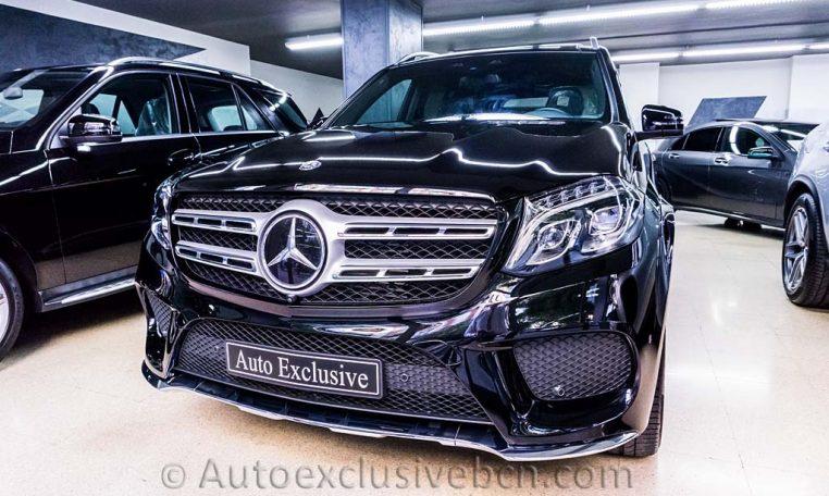 Mercedes-Benz Clase GLS 350d 4Matic AMG -2016- Negro Obsidiana - Piel Negra - Full Equip - Stock Auto Exclusive BCN - Frontal Exterior- Auto Exclusive BCN tu concesionario de vehículo Ocasión - Demo- y Gerencia Mercedes-Benz en Barcelona