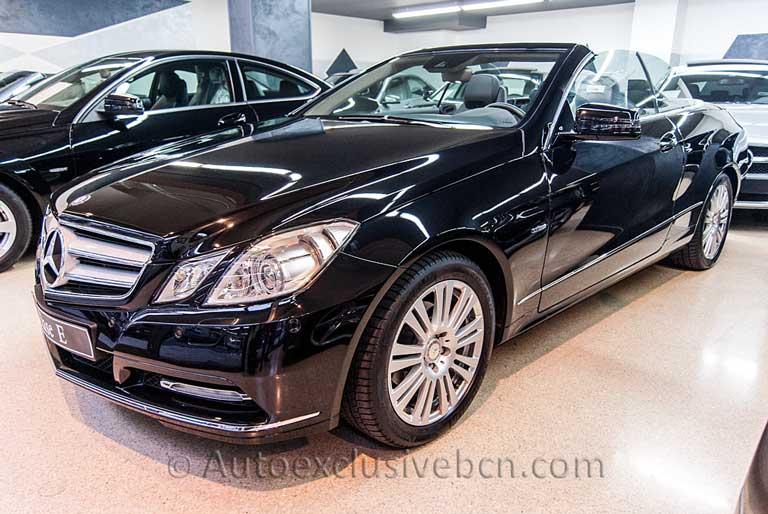 Mercedes - Benz Clase E 220 CDI Cabriolet ( 207) Negro Obsidiana - Piel Negra - Auto Exclusive BCN, tu concesionario Ocasión Mercedes en Barcelona