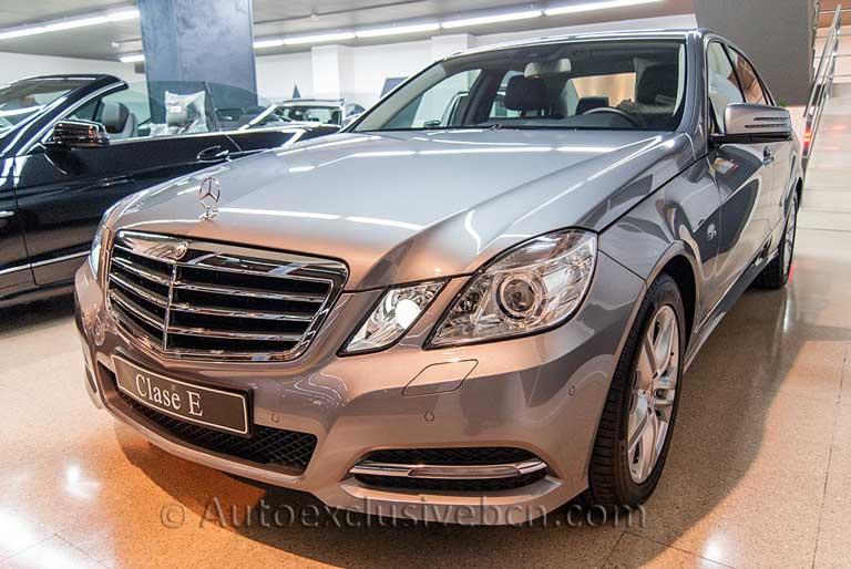 Mercedes Clase E 220 CDI Avantgarde - Plata Paladio - PIel Negra - Auto Exclusive BCN tu concesionario Ocasión Mercedes en Barcelona