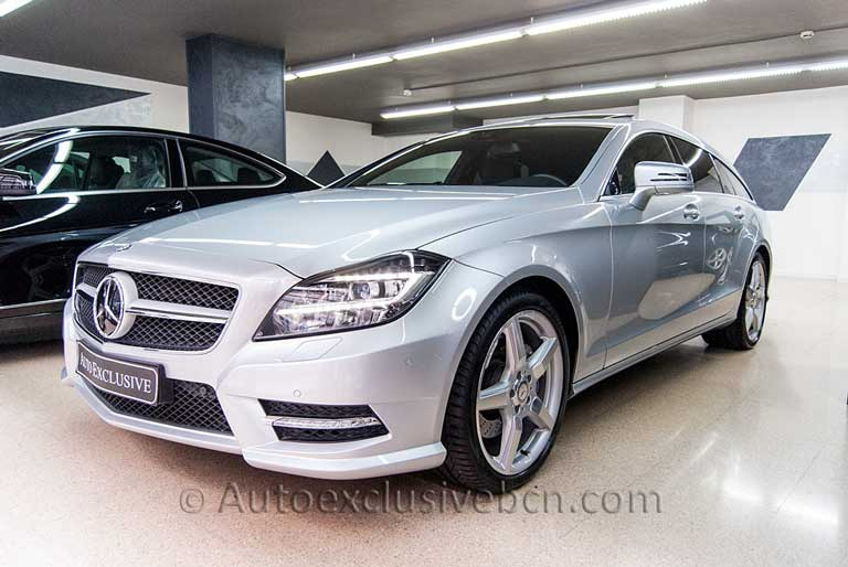 Mercedes CLS 350 CDI Shooting Brake - Plata Iridio - Auto Exclusive BCN, tu concesionario Ocasión Mercedes Barcelona -1