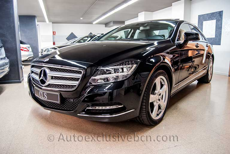 Mercedes CLS 350 CDI Coupè - Negro - Piel gris. Auto Exclusive BCN, tu concesionario Ocasión Mercedes Barcelona -2
