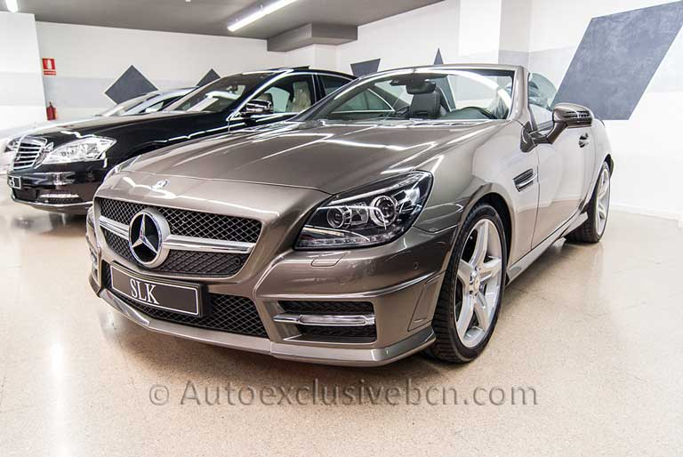 Mercedes SLK 350 AMG - Gris Indio - Auto Exclusive BCN tu concesionario ocasión Mercedes Barcelona