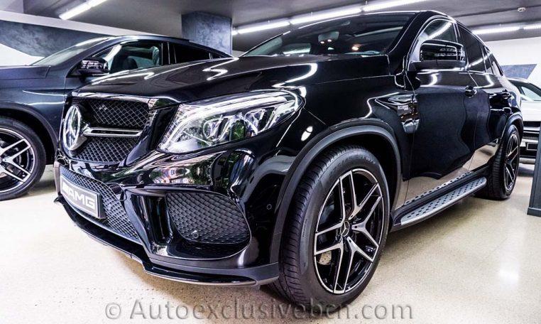 Mercedes-Benz Clase GLE 43 AMG Coupè - Negro Obsidiana - Piel Negra - Full Equip - Frontal Izquierdo - Auto Exclusive BCN tu concesionario de vehículos alta gama Ocasión - Demo- y Gerencia Mercedes-Benz en Barcelona