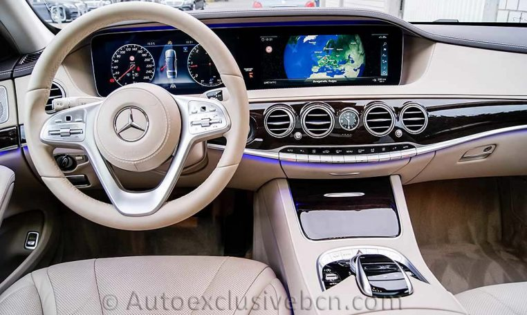 Mercedes S 350d 4M Corto -Negro-Piel Beige - Auto Exclusive BCN- Concesionario Ocasión Mercedes Barcelona_DSC8103