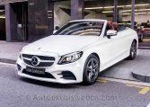Mercedes C 300 Cabrio - Blanco -Marrón -Auto Exclusive BCNDSC00092
