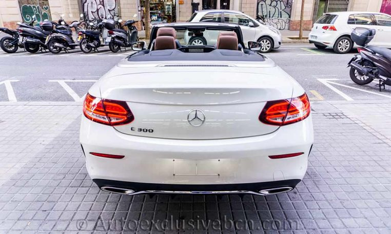 Mercedes C 300 Cabrio - Blanco -Marrón -Auto Exclusive BCNDSC00096