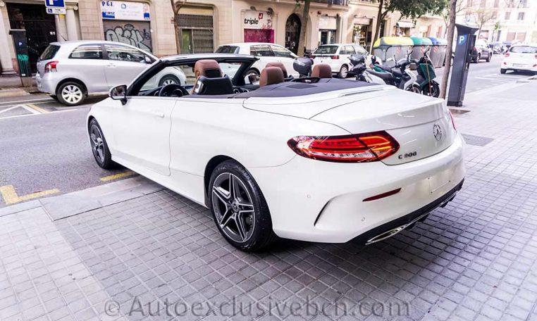Mercedes C 300 Cabrio - Blanco -Marrón -Auto Exclusive BCNDSC00097