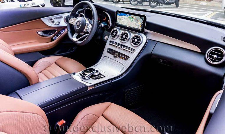 Mercedes C 300 Cabrio - Blanco -Marrón -Auto Exclusive BCNDSC00102