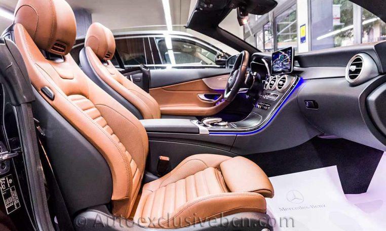 Mercedes C 300 AMG Cabrio - Negro - Piel MArrón -- Auto Exclusive BCN Concesionario Ocasión Mercedes Barcelona-DSC00618